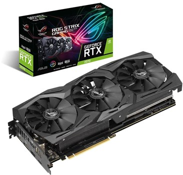 ROG-STRIX-RTX2070-A8G-GAMING, Asus ROG STRIX GeForce RTX 2070 Advanced Edition 8GB Graphics Card