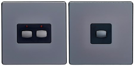 Energenie Mi Home Smart 2-Way Light Switch 2 Gang Black Nickel, MIHO091