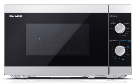 Sharp Silver 20L 800W Microwave with Grill (YC-MG01U-S), YC-MG01U-S