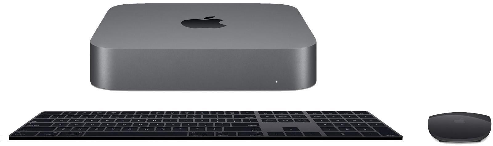 Image of Apple Mac Mini Space Grey 2018 Model With Space Grey Magic Keyboard & Magic Mouse 2