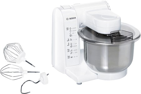 Bosch White Kitchen Machine Stand Mixer (MUM4807GB), MUM4807GB