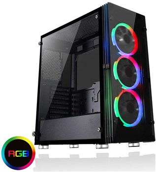 ECLIPSE, Game Max Eclipse RGB Tempered Glass Mid Tower Case