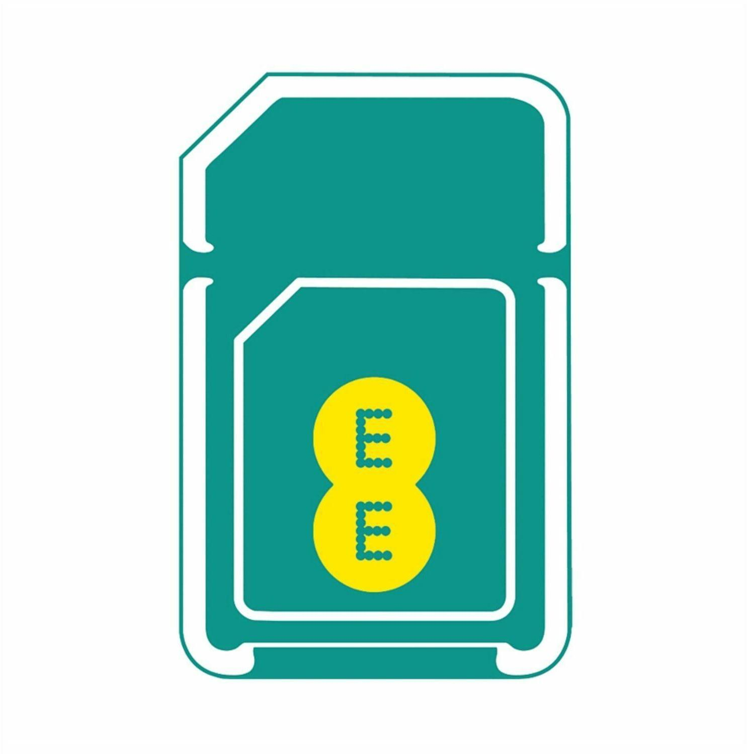 EE PAYG SIM Card Top Up £10 A Month To Get 2GB Data Unilimited Texts & 100 Minutes