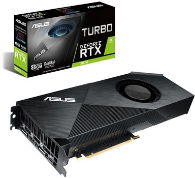 90YV0C80-M0NA00, ASUS GeForce RTX 2070 Turbo 8GB Graphics Card