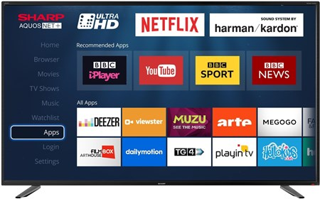 LC-55UI7252K, Sharp LC-55UI7252K 55 Inch 4K Ultra HD HDR Smart LED TV with Freeview