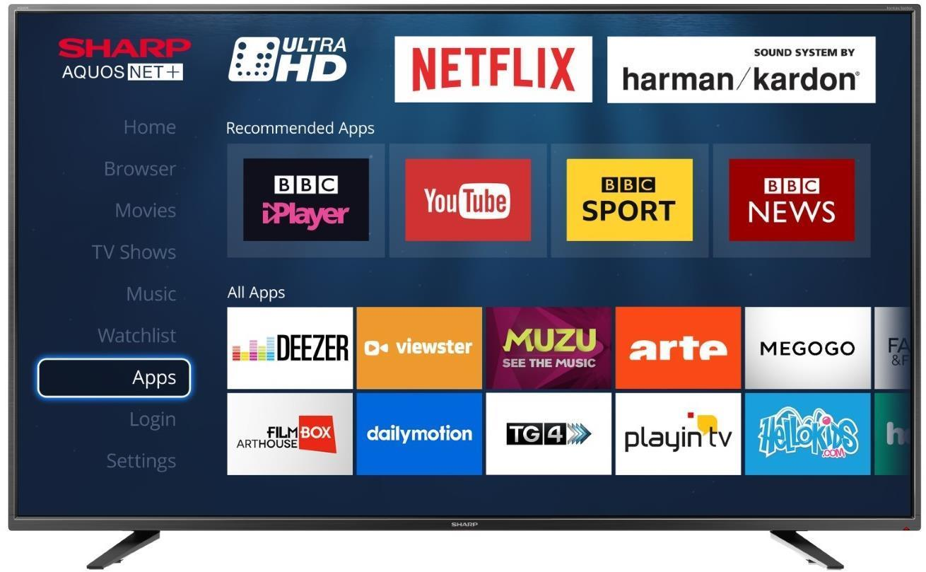Sharp LC-65UI7252K 65 Inch 4K Ultra HD Smart LED TV with Freeview HD