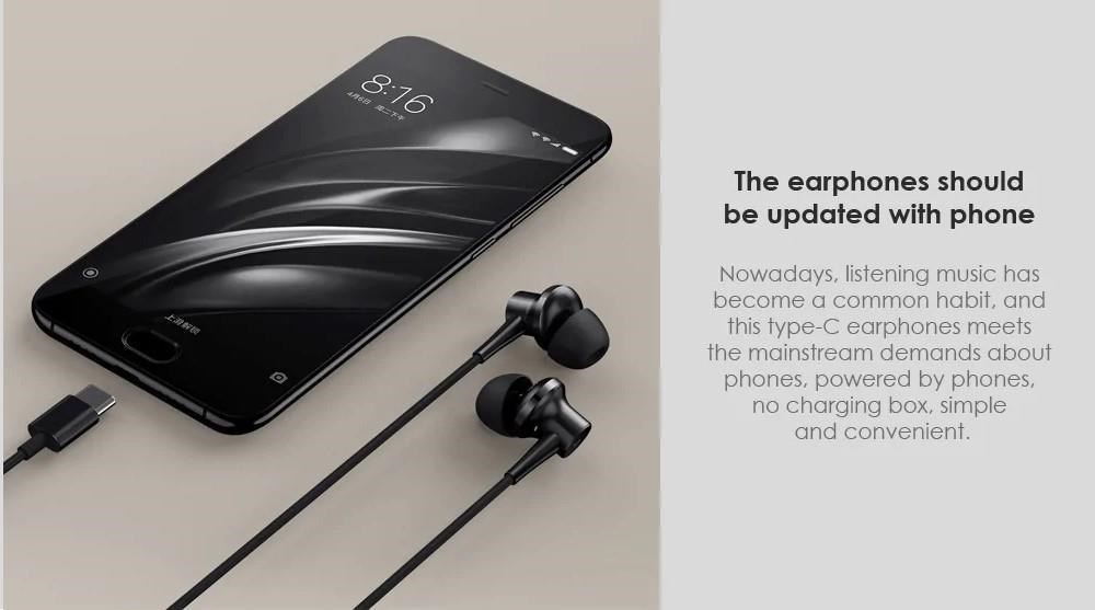 Xiaomi Mi Noise Cancelling Earphones Type-C Black