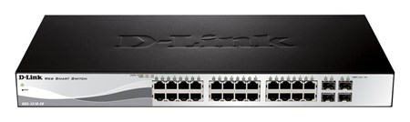 DGS-1210-28, D-Link DGS-1210-28 24-Port Gigabit Smart Managed Switch with 4 SFP Ports