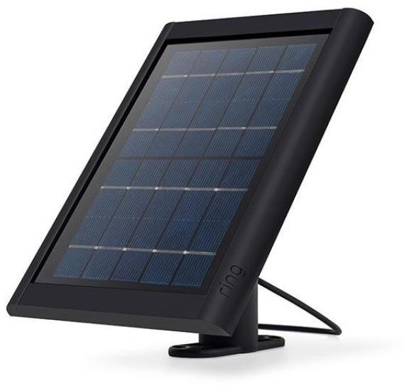 Ring Solar Panel Charger Black