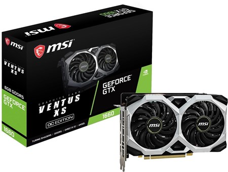 GTX 1660 VENTUS XS 6G OC, MSI GeForce OC Turing Graphics Card