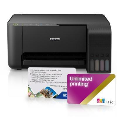 Epson 2 Year Unlimited Printing Card