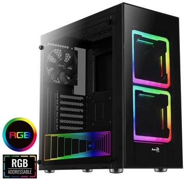ACCM-PB12033.11, Aerocool Tor RGB Tempered Glass Mid Tower Case