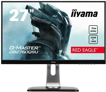 "iiyama G-MASTER RED EAGLE GB2760QSU-B1 27"" WQHD FreeSync 144Hz Gaming Monitor,"