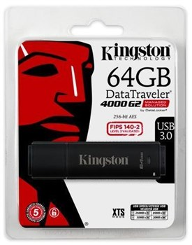 DT4000G2DM/64GB, Kingston DataTraveler 4000 G2 64 GB USB 3.0 Flash Drive - 256-bit AES