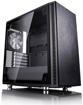 FD-CA-DEF-MINI-C-BK-TG, Fractal Design Define Mini C Micro-ATX Tempered Glass Tower Case