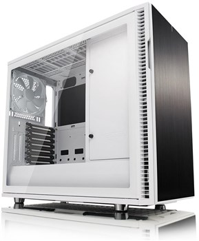 FD-CA-DEF-R6C-WT-TGC, Fractal Design Define R6 USB-C Tempered Glass Mid Tower Case - White