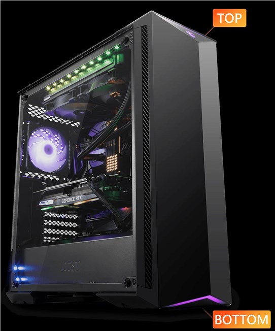 MSI MPG GUNGNIR 100 ARGB Tempered Glass Mid Tower Case