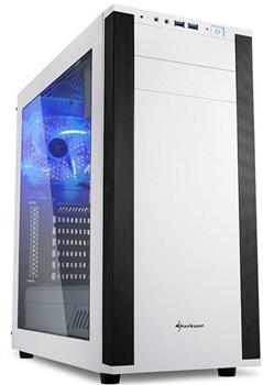M25-W White, Sharkoon Windowed Mid Tower Case - White