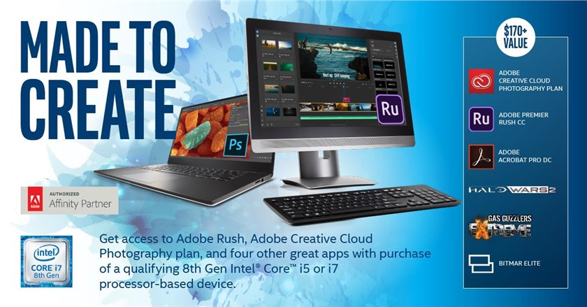 + Intel Creator Bundle