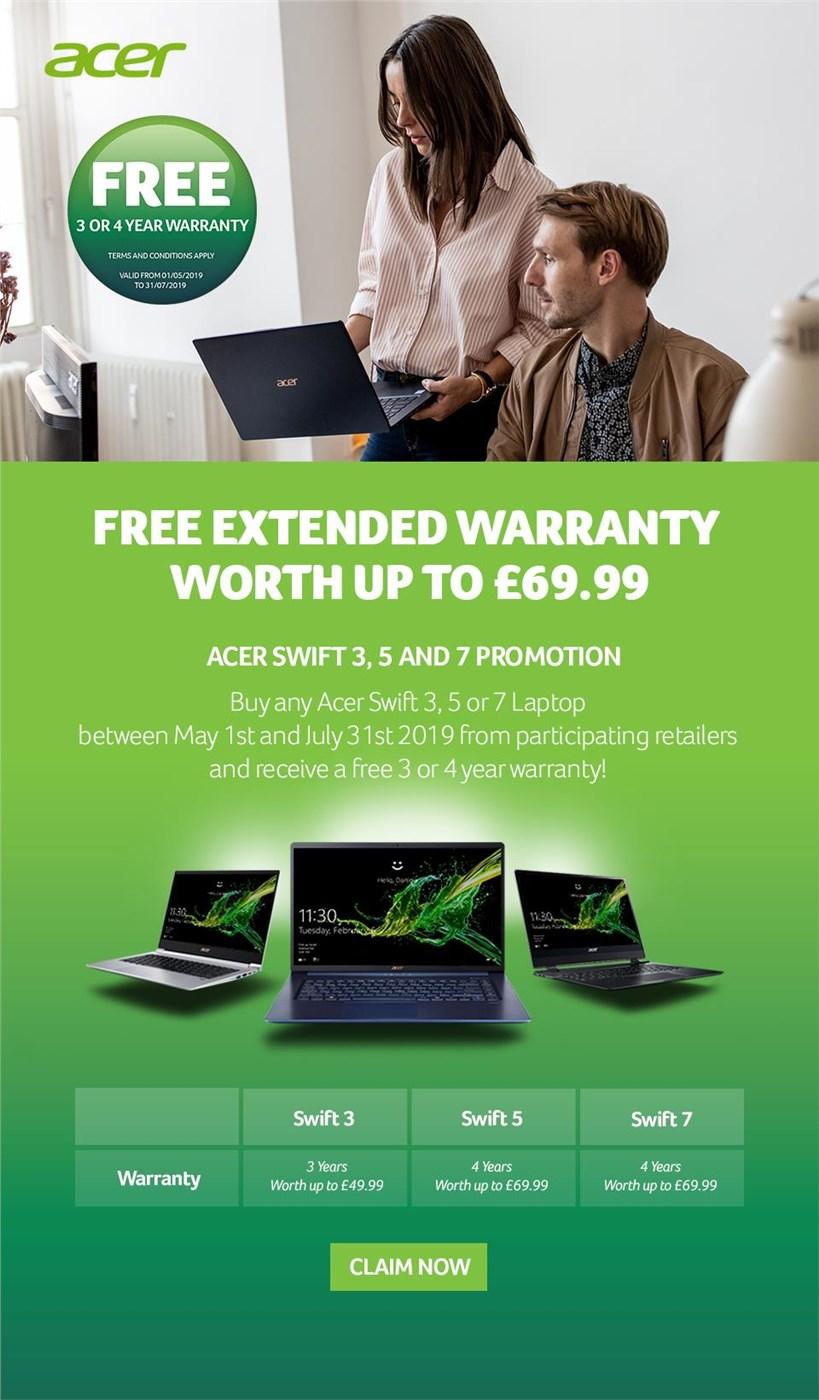 Free Warranty Upgrade