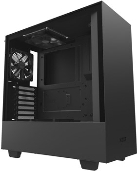CA-H500B-B1, NZXT H500 Tempered Glass Mid Tower Case - Black