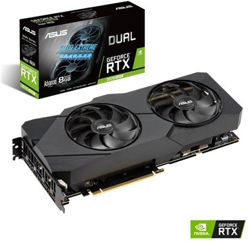 90YV0DK2-M0NA00, ASUS DUAL GeForce RTX 2070 SUPER 8GB EVO ADVANCED Turing Graphics Card