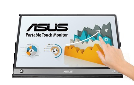 "ASUS Zenscreen Touch MB16AMT 15.6"" Full HD IPS Portable 10pt TouchScreen Monitor,"