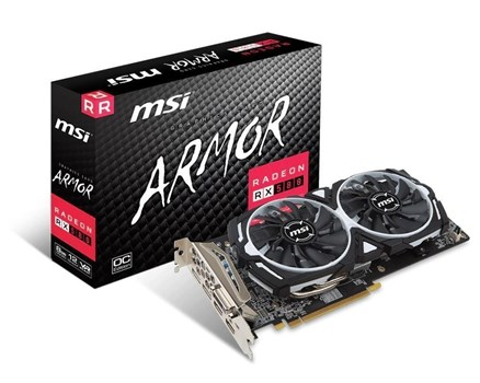 RX 580 ARMOR 8G OC, MSI Radeon 8GB OC Graphics Card
