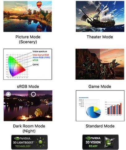 "ASUS VG248QE 24"" Full HD 144Hz Gaming Monitor"