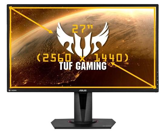 "ASUS TUF VG27AQ 27"" QHD HDR10 IPS G-SYNC Compatible Adaptive-Sync 165Hz Gaming Monitor"