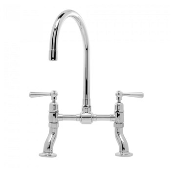 Caple Putney Bridge Traditional Dual Control Tap - Polished Stainless Steel, PUT/BRI/PS