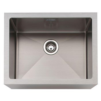 Caple Belfast Sit-on Single Bowl Kitchen Sink - Stainless Steel, BELSS