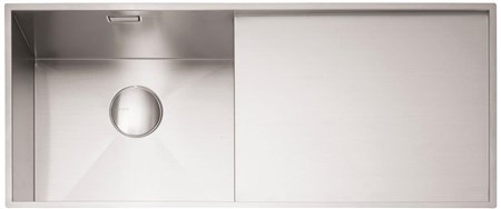 Caple Nada 100 Right Drainer Kitchen Sink - Stainless Steel, NA100R