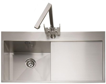 Caple Cubit 100 Right Drainer Inset Kitchen Sink - Stainless Steel, CU100/R