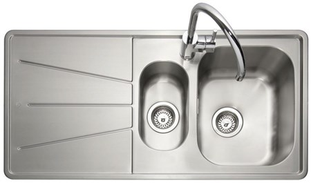 Caple Blaze 150 Left Drainer Inset Kitchen Sink - Stainless Steel, BZ150/L