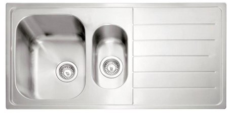 Caple Lyon 150 Right Drainer Inset Kitchen Sink - Stainless Steel, LY150SS/R
