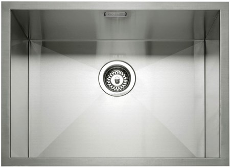 Caple Zero 55 Inset or Undermounted Kitchen Sink - Stainless Steel, ZERO55