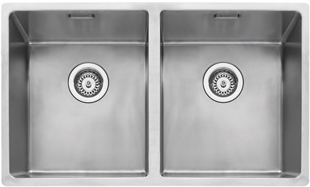 Caple Mode 3434 Inset or Undermounted Kitchen Sink - Stainless Steel, MODE3434