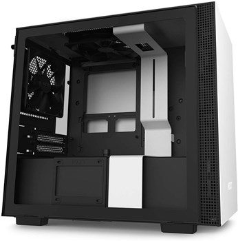 NZXT H210 Tempered Glass Mini ITX Tower Case - Black/White, CA-H210B-W1