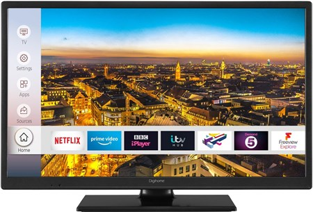 "24HDCNTDP, Digihome 24HDCNTDP 24"" Smart TV with DTS & Freeview Play"