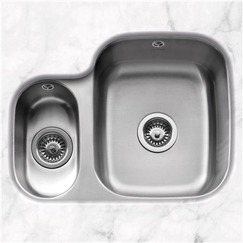 Caple Form 150L Undermounted Kitchen Sink - Stainless Steel, FORM150L