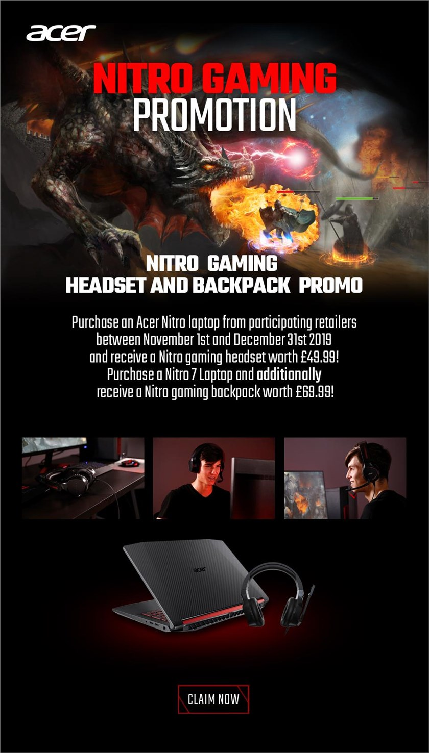 + Free Nitro Headset