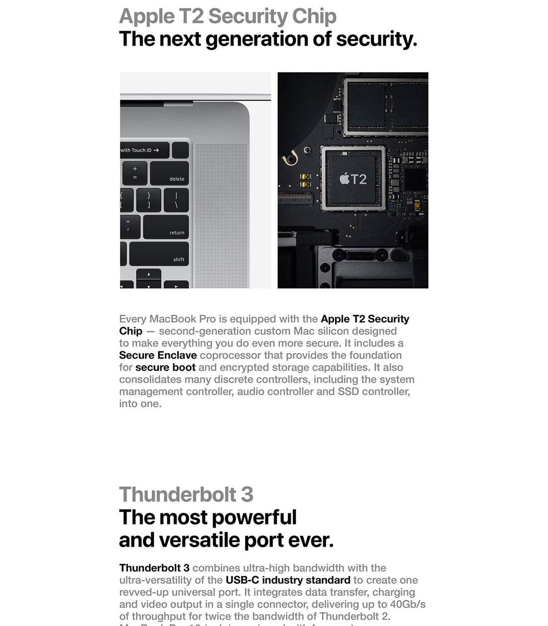 MacBook Pro 16-inch Touch Bar - Intel 9th Gen i9 - 16GB RAM - 1TB SSD - Space Grey
