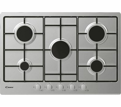 Candy CHW7X 5 Burner Gas Hob - Stainless Steel,