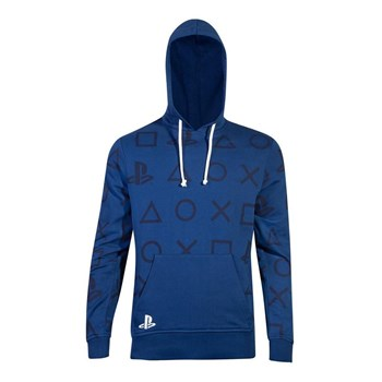 PlayStation Symbol All Over Print Hoodie - Large, 8718526290714
