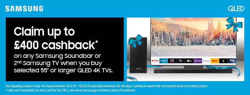 Get up to £400 Cashback*