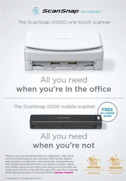 Free Scansnap iX100