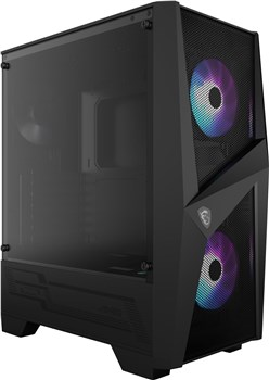 MSI MAG FORGE 100R Tempered Glass Mid Tower Case - Black, 306-7G03R11-809