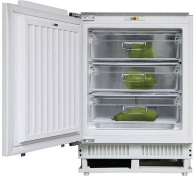 Hoover HBFUP 130 NK Under Counter Integrated Freezer - White,