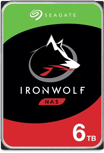 "Seagate 6TB IronWolf NAS Hard Drive 3.5"" SATA III 6Gb/s 5400RPM 256MB Cache (CMR), ST6000VN001"